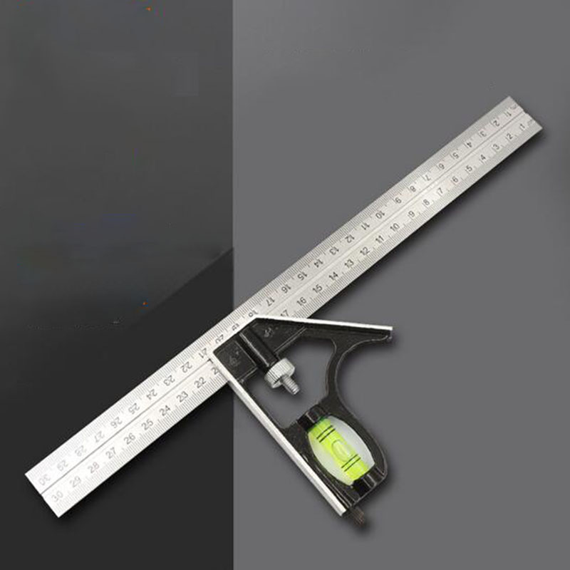 Multi-function Combination Steel Ruler Angle Ruler Horizontal Activity Right Angle Ruler