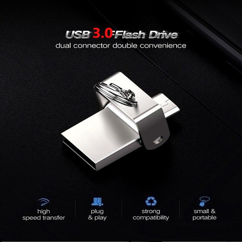 Original Multifunction OTG USB Flash Drive High Speed For micro phone USB 3 0 PenDrives 128GB 32GB 64GB Pen Drives Memory Stick in USB Flash Drives from Computer Office