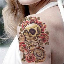 050a4d575 TOMTOSH Body Art Beauty Makeup Sexy Danger Sexy Skull Tattoo 3D Waterproof  Temporary Tattoo Sticker Sexy