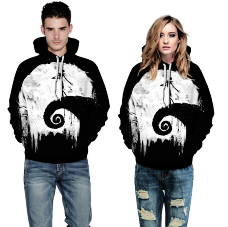 ZOGAA Fashion Man / Woman 3D Clouds Characters Sweatshirt Printed Fashion Chinese Style 3D Hooded Coat Unisex Mens Hoodies