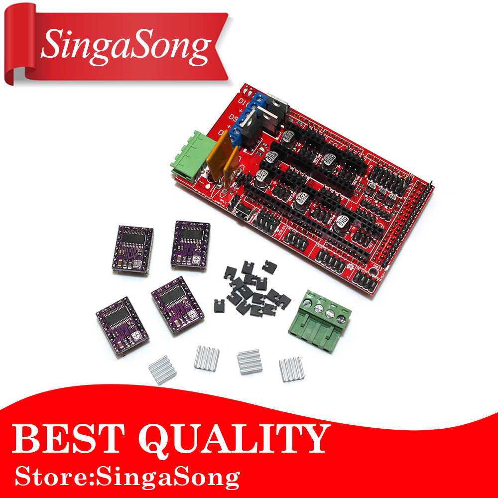 Detail Feedback Questions About Cnc Shield V30 Uno R3 4pcs Arduino Controlled 3d Printer Hybrid Wiring The Electronics Kit Ramps 14 Controller Control Panel For Mega Devlepment Board 4x Drv8825