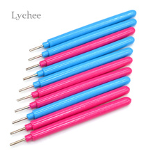 Lychee 10pcs Paper Craft Tool Quilling Paper Pen DIY Assorted Color Origami Scrapbooking Slotted Paper Quilling Tools Random