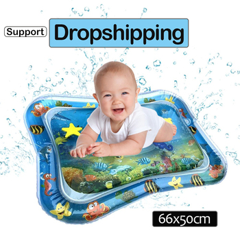 Baby Play Water Mat Inflatable Infants Tummy Time Playmat Toys for Kids Mat Summer Swimming Beach Pool Game Cool Carpet Toy