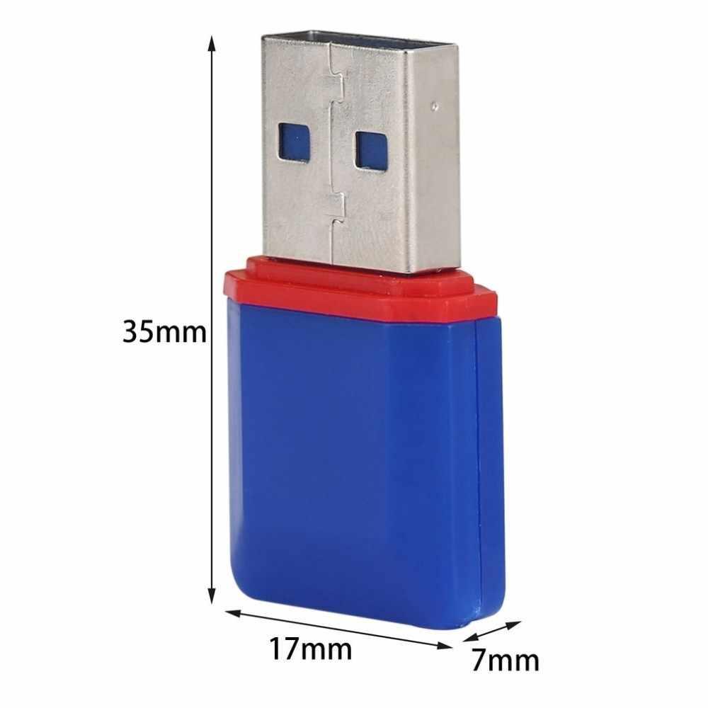 Diamond Portabel USB 2.0 Kecepatan Tinggi T-flash TF Pembaca Kartu Memori USB untuk Desktop Notebook Dukungan 128 MB- 32 GB