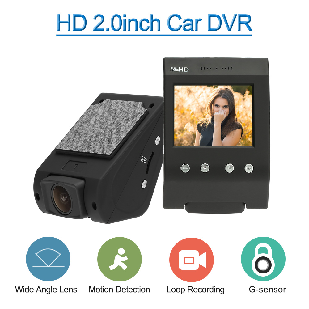 imágenes para Kkmoon 2 ''coche dvr videocámara dashcam g-sensor registrador del vehículo auto motion detección de bucle de grabación para bmw opel astra h