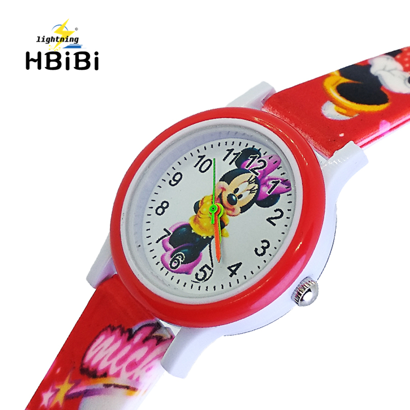 4 Styles 3D Cartoon Mickey Watch Baby Kids Watches Children Watch For Girls Boys Students Clock Quartz Wristwatch