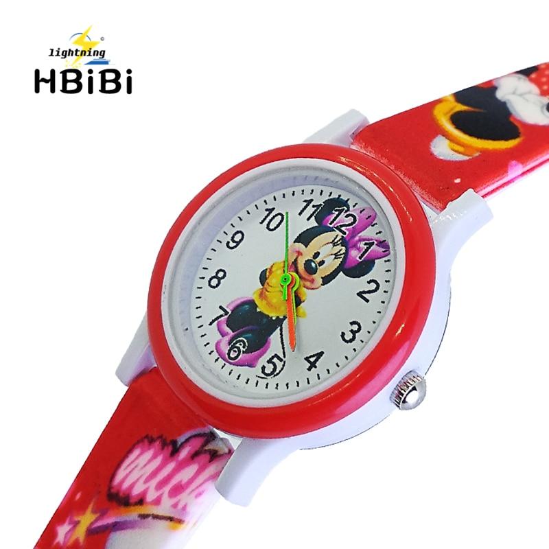 4 Styles 3D Cartoon Mickey Watch Baby Kids Watches Children Watch For Girls Boys Students Clock Quartz Wristwatch