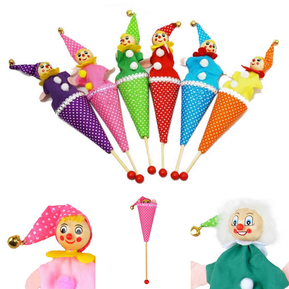 ZTOYL 1Pcs สุ่มสไตล์ Bell ซ่อน Pop Up Telescopic เด็กเด็กการศึกษาของเล่นหุ่นมือ telescopic Stick ตุ๊กตา