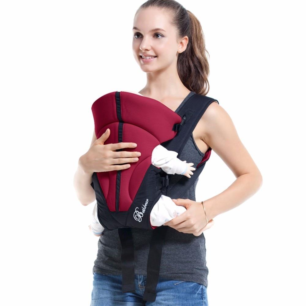 Beth Bear 0-24 Months Baby Backpack Sling Portable Adjustable Buckle Stick Mummy Kangaroo Bag Ergonomic Baby Carrier Backpack