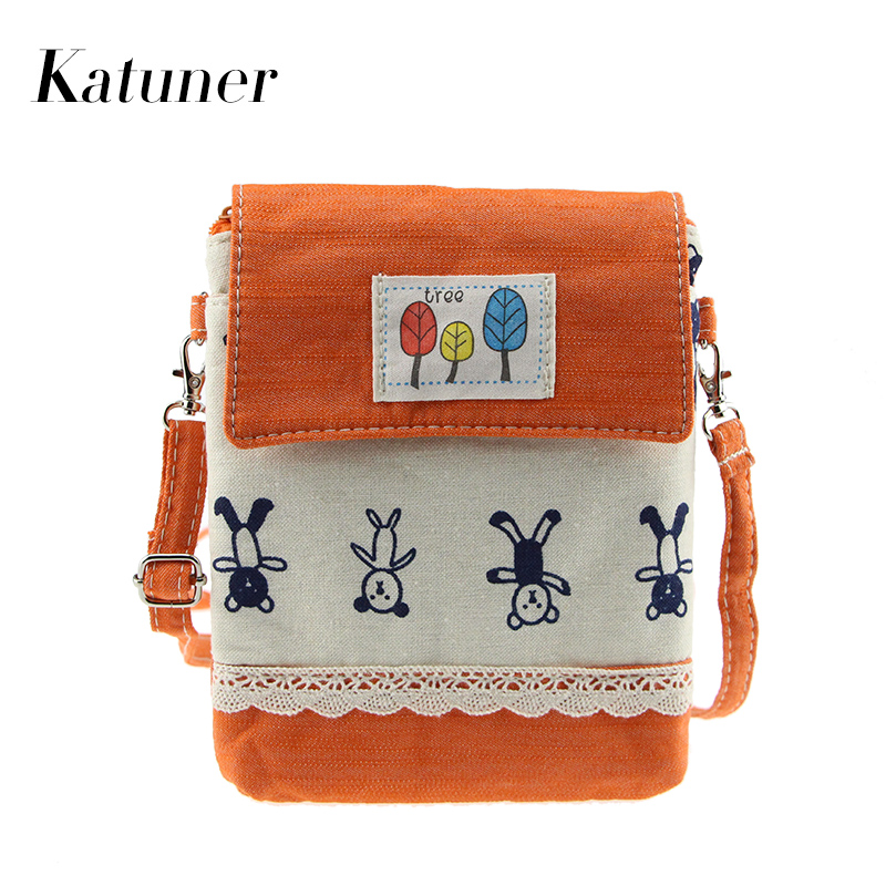 Katuner 2017 New Cartoon Bao Bao Canvas Crossbody Bags Women Cute Mini Shoulder Bag For Girls Children Bolsas Feminina KB029 bao bao fashion fresh floral girls shoulder bags female handbag canvas small crossbody bag for women sac a main bolsas b086
