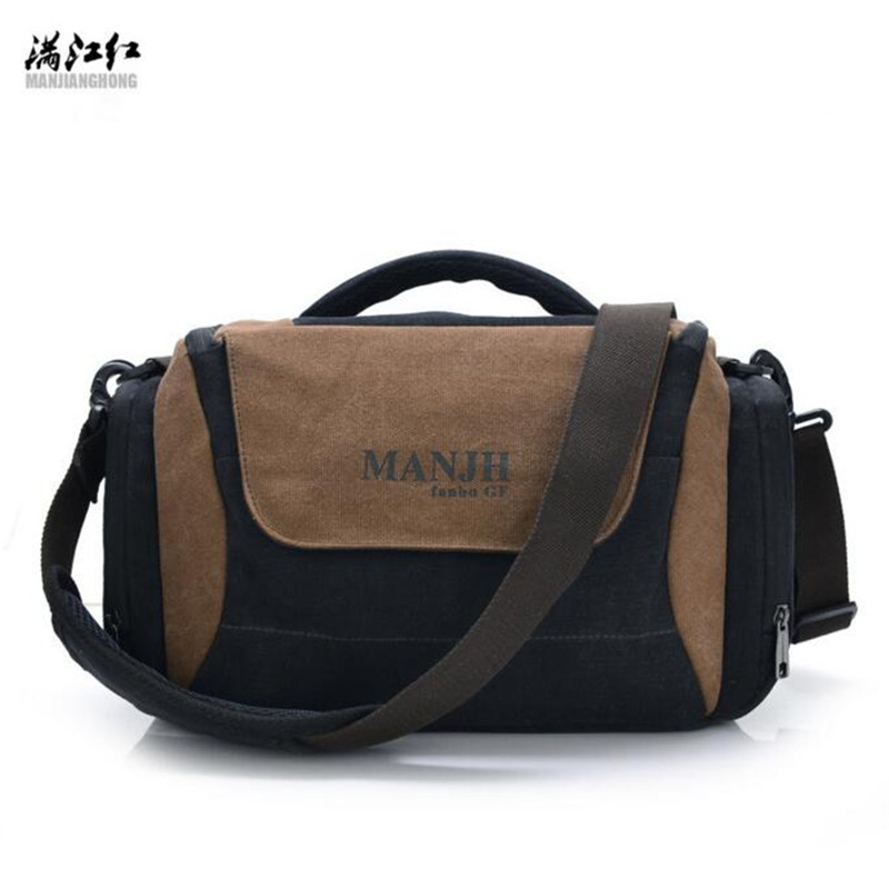 MANJIANGHONG Professional SLR Camera Bag Fashion Women Messenger Bags Anti Theft Handbag Casual Canvas Single Shoulder Bag L052 eirmai slr camera bag shoulder bag casual outdoor multifunctional professional digital anti theft backpack the small bag