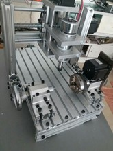 Small CNC engraving machine 2030 DIY aluminum alloy fourth MACH3 computer numerical control machine A axis carving