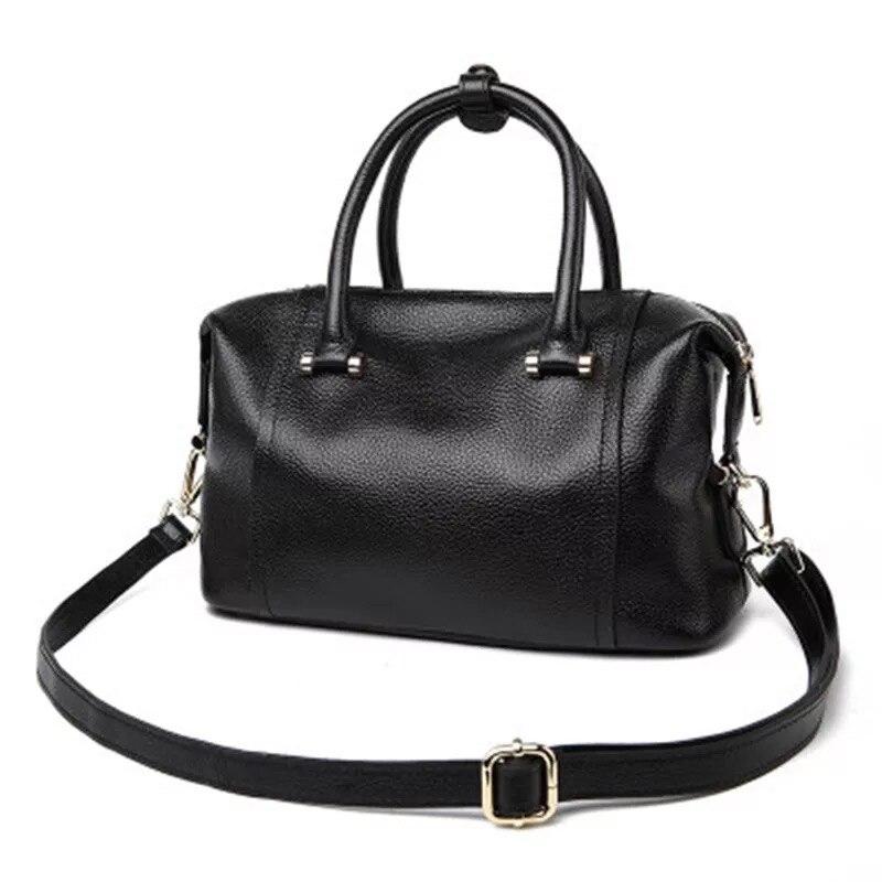 Fashion Genuine Leather Bag Handbag Women Shoulder Bag Brand Designer Retro Cowhide Purse Female Boston Bag Sac A Main bolsos стоимость