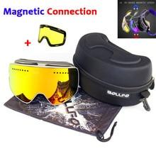 7a82060966a Magnetic Double Layers Lens Ski Goggles Masks Anti-fog UV400 Snowboard Goggles  Ski Glasses Eyewear