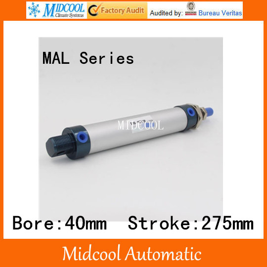 Auminium alloy mini air cylinder MAL40-275 bore 40mm stroke 275m double acting pneumatic small cylinders xiaomi mi4 lcd display screen 100