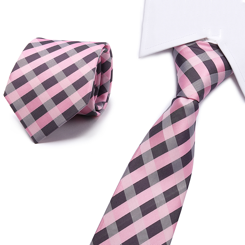 New Models 8CM Ties Gradient Color Neck Ties solid Striped&Paisley Tie Mens Blue Black Tie Green pink Tie For Wedding Party
