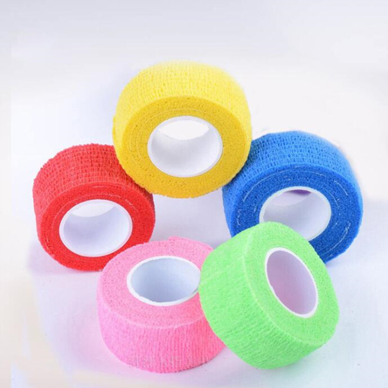 2.5cmx4.5m Self Adhesive Bandage Elastic Stretch Wrap Tape Hand Wrist Finger Thumb First Aid Kit Sports Safety