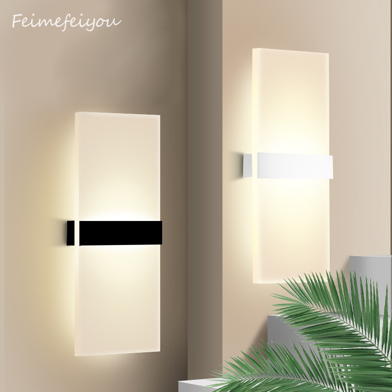 Feimefeiyou Mini 3/6/12 / 18W Led akrila sienas lampa AC85-265V 14CM - Iekštelpu apgaismojums - Foto 4