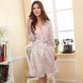 2 PCS Women Rayon Silk Babydolls Robes Sleepwear Sexy Nightgown Dress New