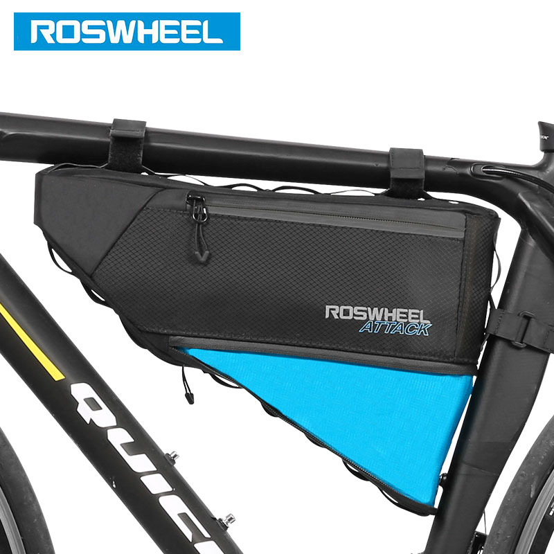 ROSWHEEL NEW Bicycle Frame Triangle Bag Storage Pouch Bags Cycling MTB Road Bike Tube Corner Pannier 121371 Volume Extendable roswheel bicycle bags mtb road mountain bike top tube triangle bag full waterproof high quality storage bag cyling saddle bags