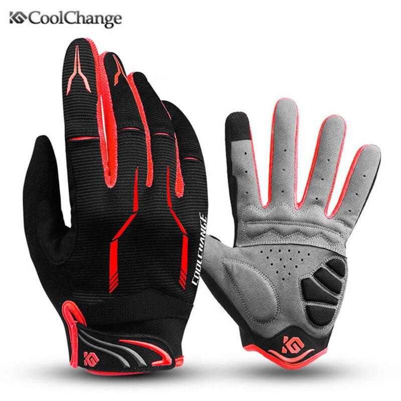Coolchange Bike Glove Full Finger Black Luva Bike Cycling Gloves Man Women Long Mountain Biking Gloves Motorcycle Gloves