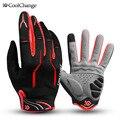 Coolchange велосипедные перчатки с полным пальцем черные перчатки для езды на велосипеде Luva мужские и женские длинные перчатки для катания на го...