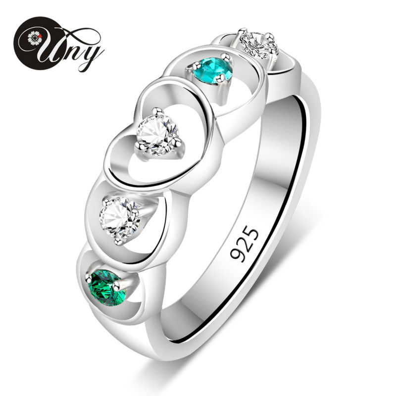 UNY Rings 925 Sterling Silver Custom Engrave Ring Family Heirloom Valentine Love gift Promise Birthstone Rings Personalized Ring цена 2017