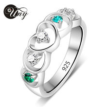 UNY Rings 925 Sterling Silver Custom Engrave Ring Family Heirloom Valentine Love gift Promise Birthstone Rings Personalized Ring