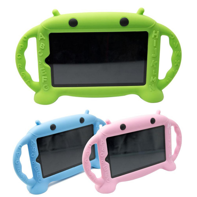 Cewaal New Children Kid 7 Inch Tablet Protective Cover Shockproof Anti-Drop Thick Silicone Soft For Kindle