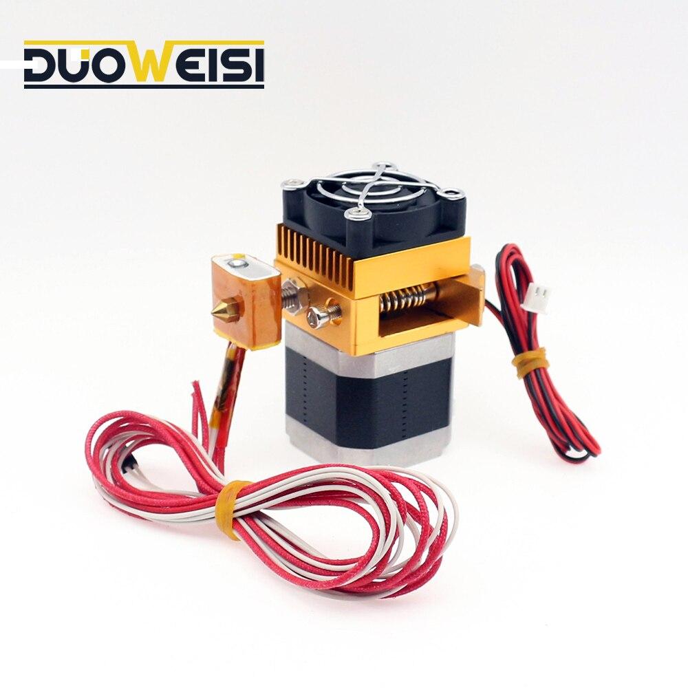 Upgrade MK8 Dual Extruder Nozzle Print Head For Prusa i3 3D Printer USA SELLER