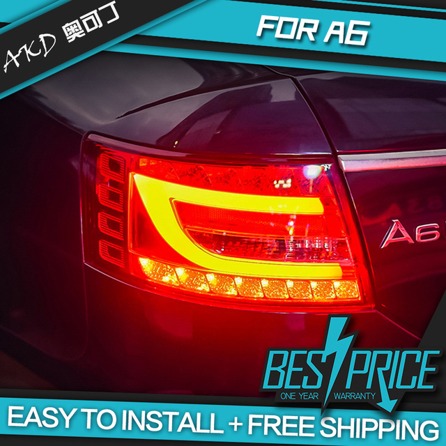 Akd car taillights for audi a6 a6l 2004 2008 taillight rear lamp led akd car taillights for audi a6 a6l 2004 2008 taillight rear lamp led light bar aloadofball Gallery