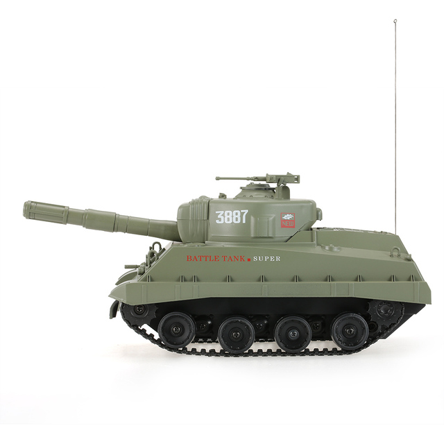 3887 RC RC Battle Tank with Cannon Ball Shooting