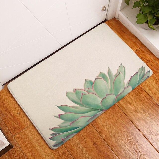 HomeMiYN Moderno Nuovo Tappetino Da Bagno 12 Colori Piante Succulente Bagno Anti