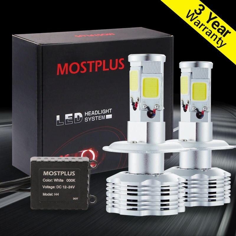 ФОТО MOSTPLUS 120W 12000lm COB LED Headlight Kit H4 HB2 9003 Hi/low beams HID 6000K Bulbs