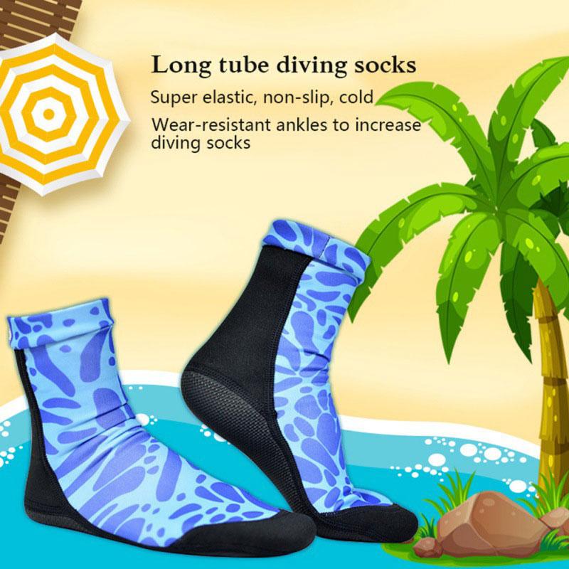 @1  Удобная обувь для дайвинга Пляжные носки для плавания 4 размера Йога Прочный 2 цвета Серфинг Теплый ①