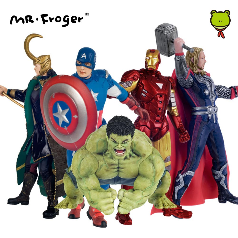 Mr.Froger Super Hero Collectible Superhero Action Figures Set Toys for Children Model Figuras Figurine Anime Toy Kids Gift DIY patrulla canina with shield brinquedos 6pcs set 6cm patrulha canina patrol puppy dog pvc action figures juguetes kids hot toys