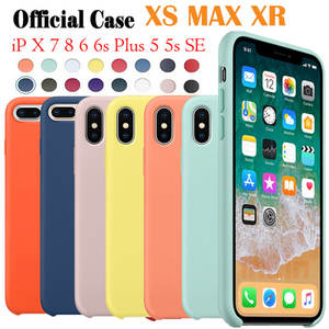 b71c922dbc4 Have LOGO Official style Silicone Case For Apple iphone XR XS iPhone XS MAX  original Cover For iPhone 5 5S SE phone Cases