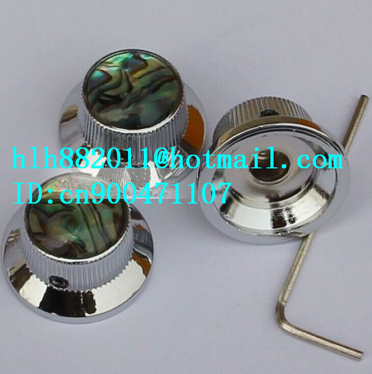free shipping new electric guitar and bass 2 tone and  1volume metal electronic Control Knobs cap in chrome NP021  DM-8074 metal quick change tune clamp trigger for acoustic electric classic guitar free shipping