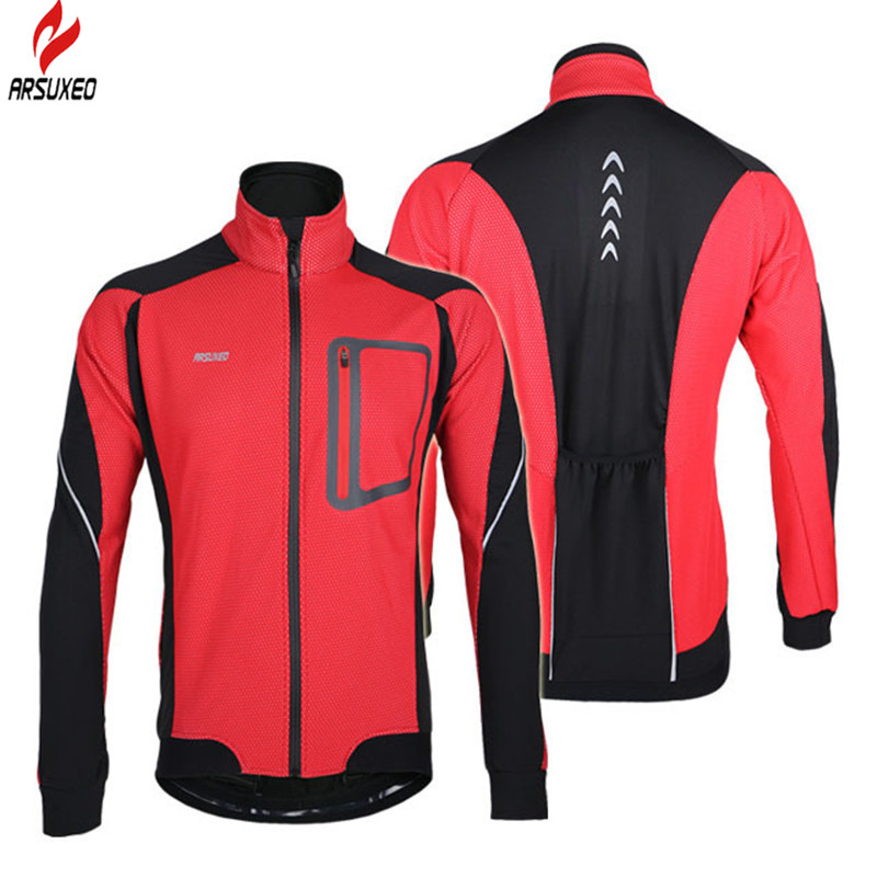 ФОТО ARSUXEO Ropa Ciclismo Cycling Jacket Fleece Thermal Windproof Equipment MTB Hiking Camping Bike Bicycle Cycling Jacket Winter