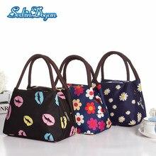 SeckinDogan Mummy Bag Large-capacity Canvas Handbag Fashion Print Waterproof Diaper Bag Portable Insulation Nappy Baby Bag