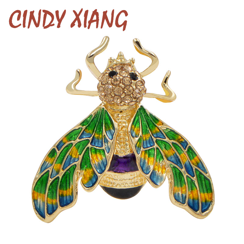 CINDY XIANG Cute Enamel Bee Brooches Women Kids Brooch Pin Fashion Vintage Insect Jewelry Multi-color Beautiful Broches Gift
