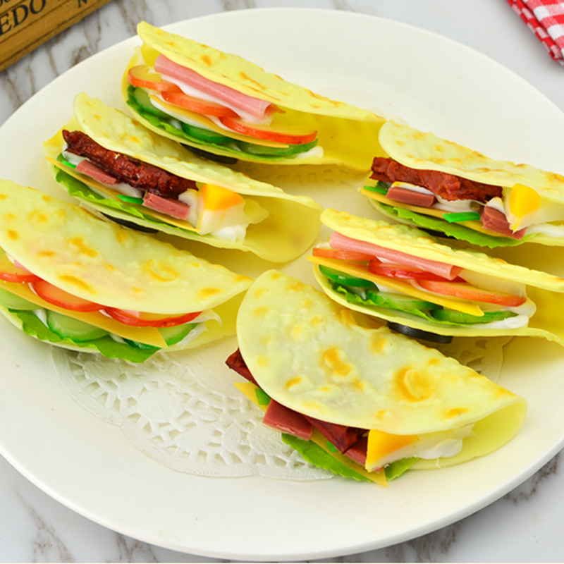 050 Simulation pancake skin vegetable cake pancake dummy meat cake cake model fridge PPU realistic cake 11 5 5 2 5cm in Artificial Foods Vegetables from Home Garden