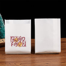 100pcs white Kraft anti oil Paper bag good food French Fries Fried chicken Bread Burrito Paper Bags fast food shop restaurant(China)