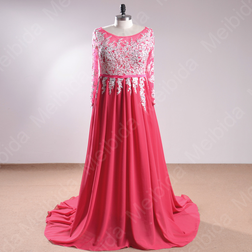 ce8bfe435fb06 Aliexpress.com   Buy Real Picture Prom Dress for Girls Long Sleeve Elie  Saab Evening Dresses Vestido De Formatura Beading latest evening gown  designs from ...