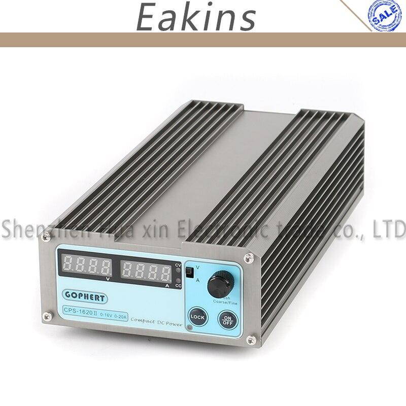 GOPHERT précision commutateur Compact numérique réglable faible puissance DC alimentation OVP/OCP/OTP 110 V/230 V 16 V 20A MCU contrôle EU