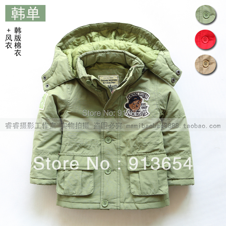 ФОТО new 2014 autumn winter jacket kids clothes baby boy coat thick warm wadded jacket overcoat boys outerwear children's jackets