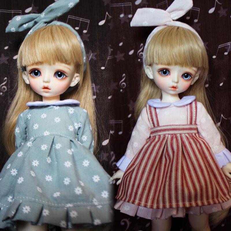NEW Lovely Light green/light pink Braces skirt/Dress For 1/6 YOSD BJD Doll Clothes new 1 3 1 4 1 6 sd msd yosd bjd doll clothes pink wave point girl dress skirt suit