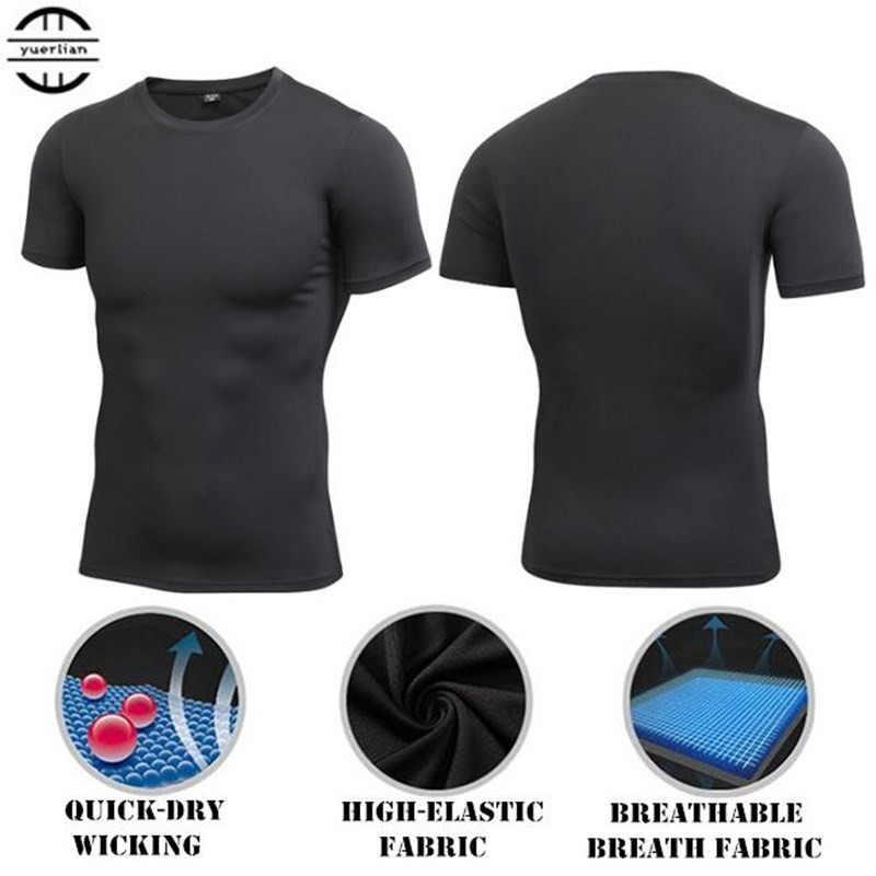 Men Shapers Compression Underwear 3D Tight T-shirt,Cool High Elastic Quick-dry Wicking Sport Fitness GYM Running Short Sleeves