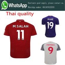 2018 2019 Adlut Liverpooles Casa longe camisa de futebol camisetas FIRMINO  JUBA SALAH homem camisa De 7fd927e826f02