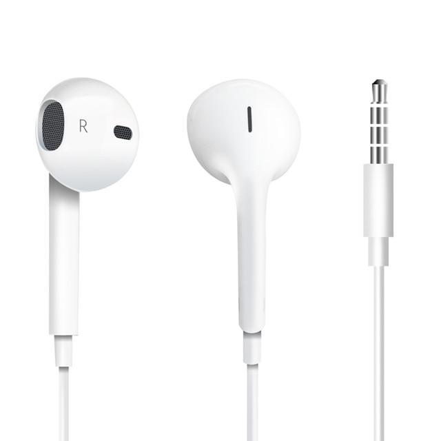 e24e335191f Original Apple EarPods with 3.5mm Headphones Earphones Remote Microphone  for iPhone 5 6s Plus 6 Plus SE 5s